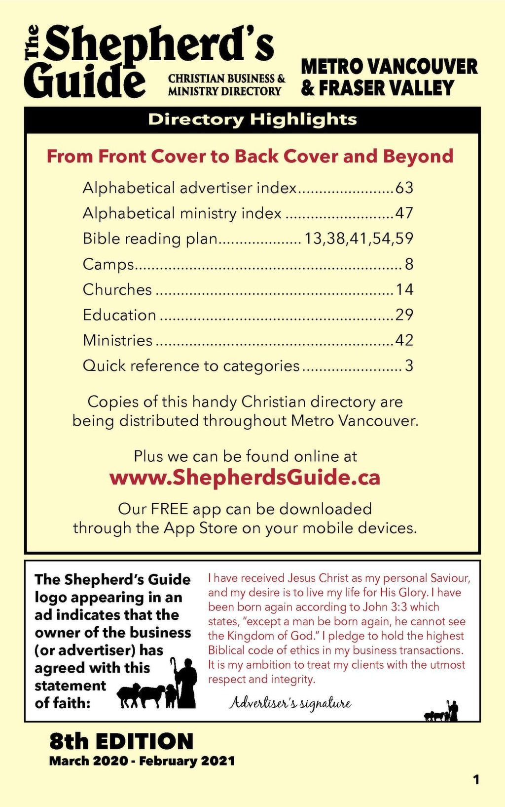Metro Vancouver and Fraser Valley – The Shepherd's Guide